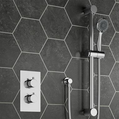 Dahlia Concealed Thermostatic Shower Valve & Slide Rail Kit